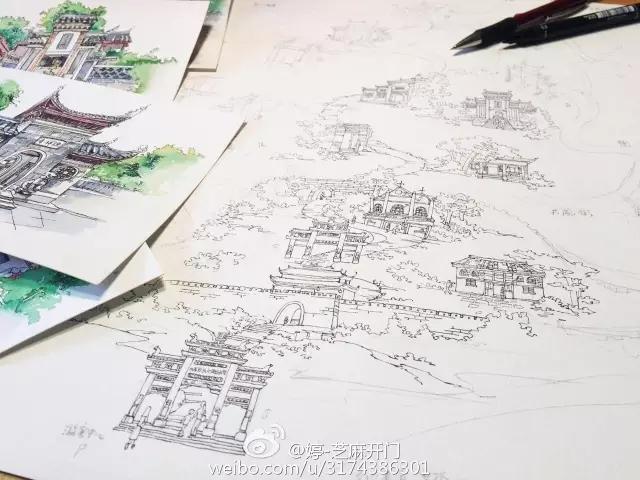 贵州旅游手绘地图 给你不一样的旅游体验