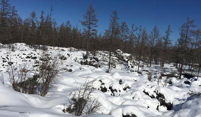 石塘林,第四纪火山喷发的地质遗迹。人民网魏欣宁 摄