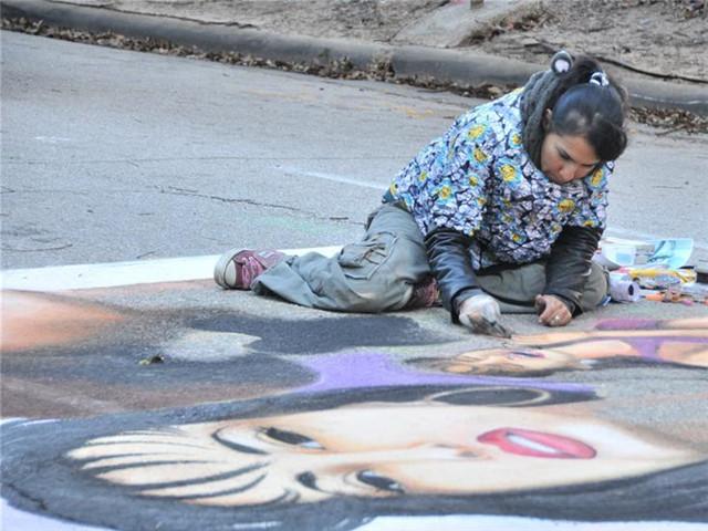 休斯敦举办街画节为听障儿童筹款 640 480.jpg