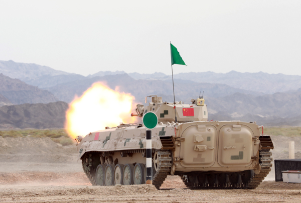 图9为中国参赛队某型步战车正在进行实弹射击。.jpg