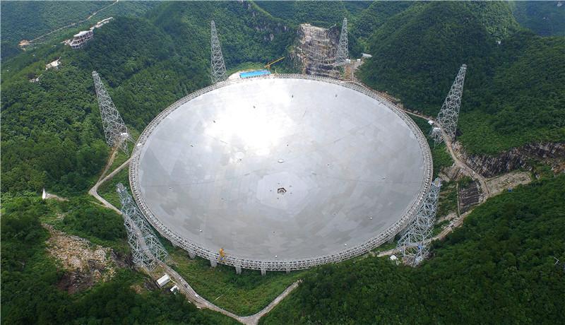 中国天眼:500米口径球面射电望远镜(平塘宣传部供图)
