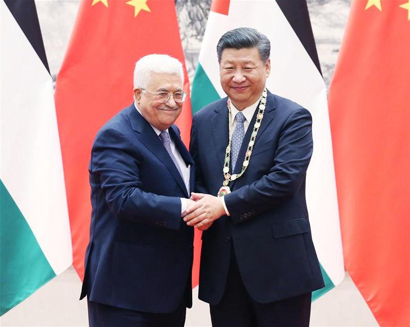 习近平同巴勒斯坦国总统阿巴斯举行会谈 两国元首一致强调推动中巴友好合作事业全面发展